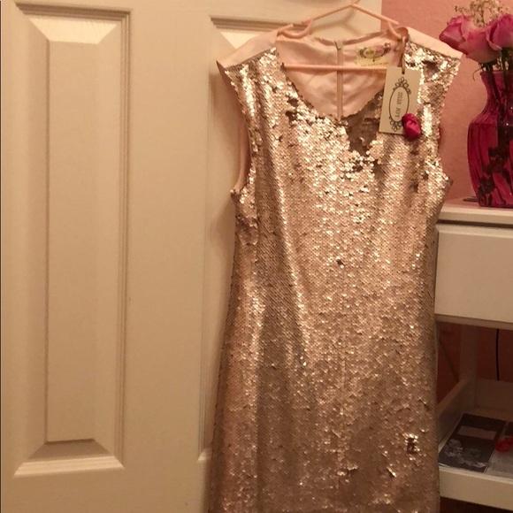 366daec4 joyfolie Dresses | Nwt Kids Rose Gold Sequin Dress Size 8 | Poshmark